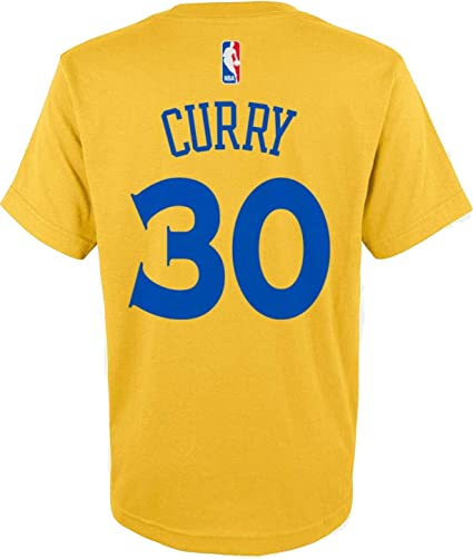 Outerstuff Stephen Curry Golden State Warriors NBA Boys Youth 8-20 Yellow  Gold Official Player 93352bd4f