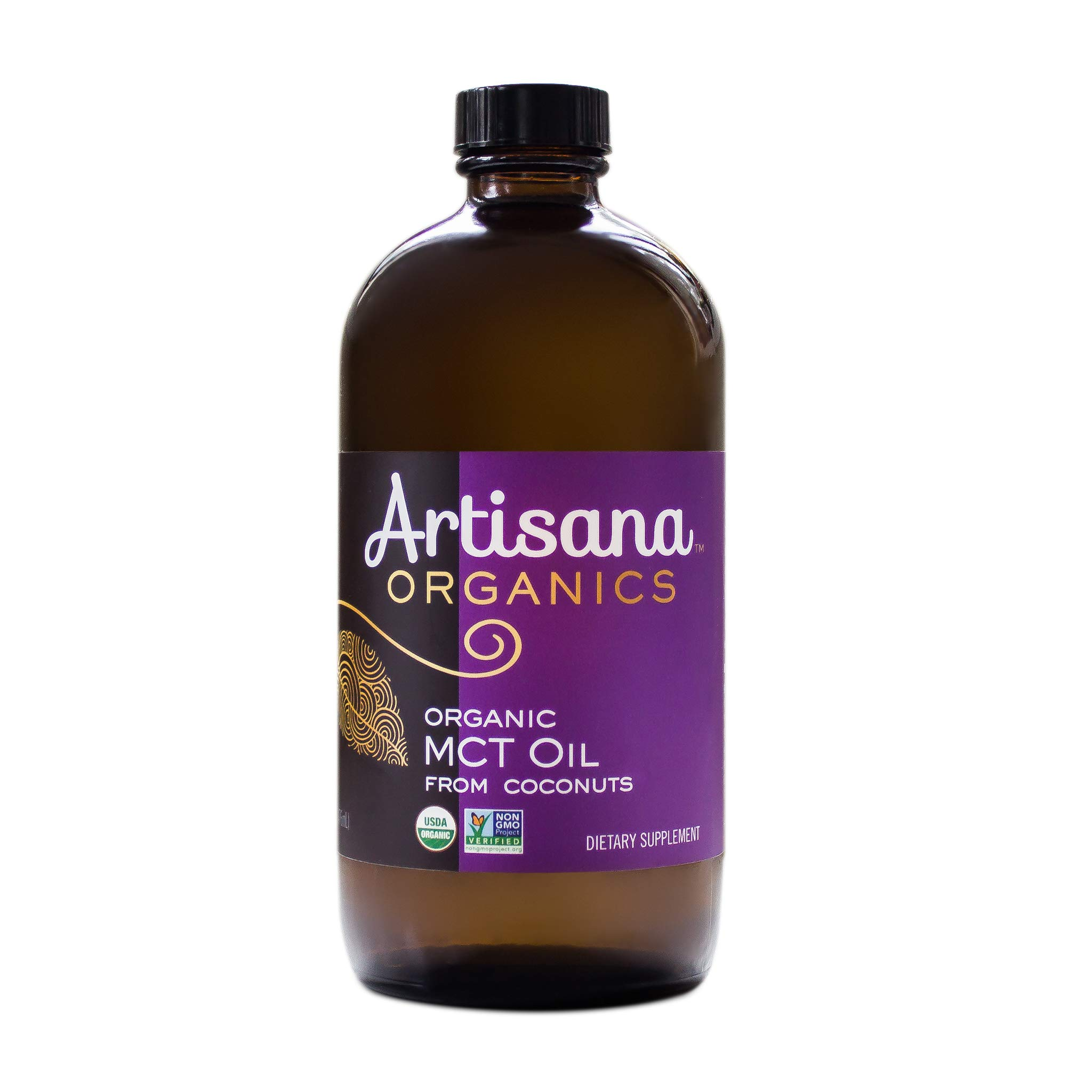 Artisana Organics MCT Oil from Coconuts in Glass Bottle, USDA Certified Organic MCT Oil (1, 16.1 fl oz bottle)