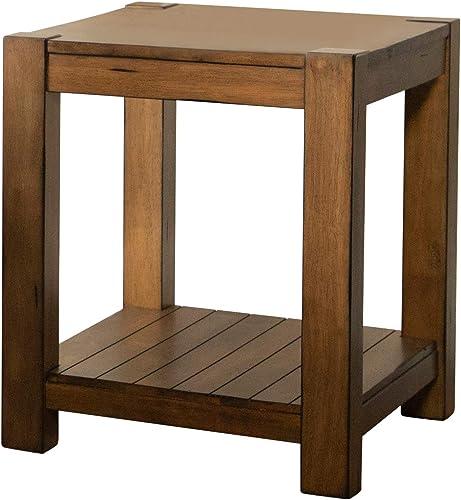 Coaster Home Furnishings Rectangular Lower Shelf Rustic Brown end Table