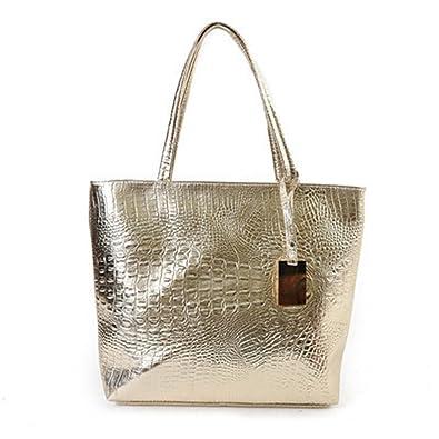 4a832e019c B dressy Women Shoulder Bags Silver Gold Black Large Tote Ladies Hand Bags   Handbags  Amazon.com