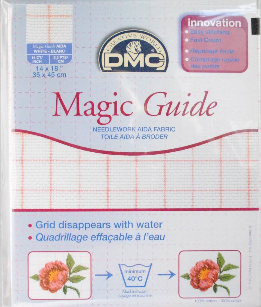 14 Count Magic Guide 14x18 Inches (35x45cm) - Blanc - DC27MG DMC DC27MG BLANC