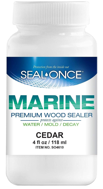 SEAL-ONCE Marine Wood Sealer & Stain Color Sample - Cedar, 4oz