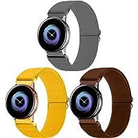 WNIPH 20mm Pack 3 Nylon Horlogebanden Compatibel met Samsung Galaxy Watch Active 2 (40mm/44mm)/Horloge 3 41mm/Horloge…