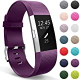 HUMENN Strap for Fitbit Charge 2 Bands, Adjustable Replacement Sport Accessory Wristband Compatible with Fitbit Charge2 Small Large