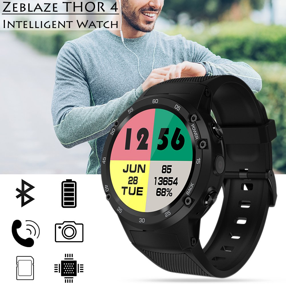 zeblaze Thor 4 Flagship 4 G LTE GPS Smartwatch Android 7.0 ...