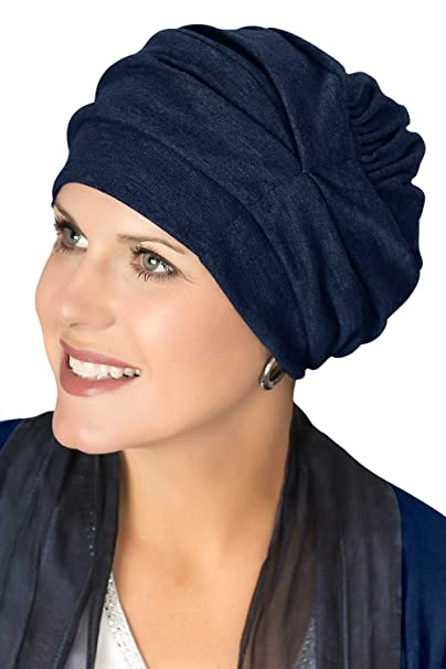Image Unavailable. Image not available for. Colour  Trinity Turban-Caps for  Women with Chemo Cancer Hair Loss Navy 86f7e22794b6