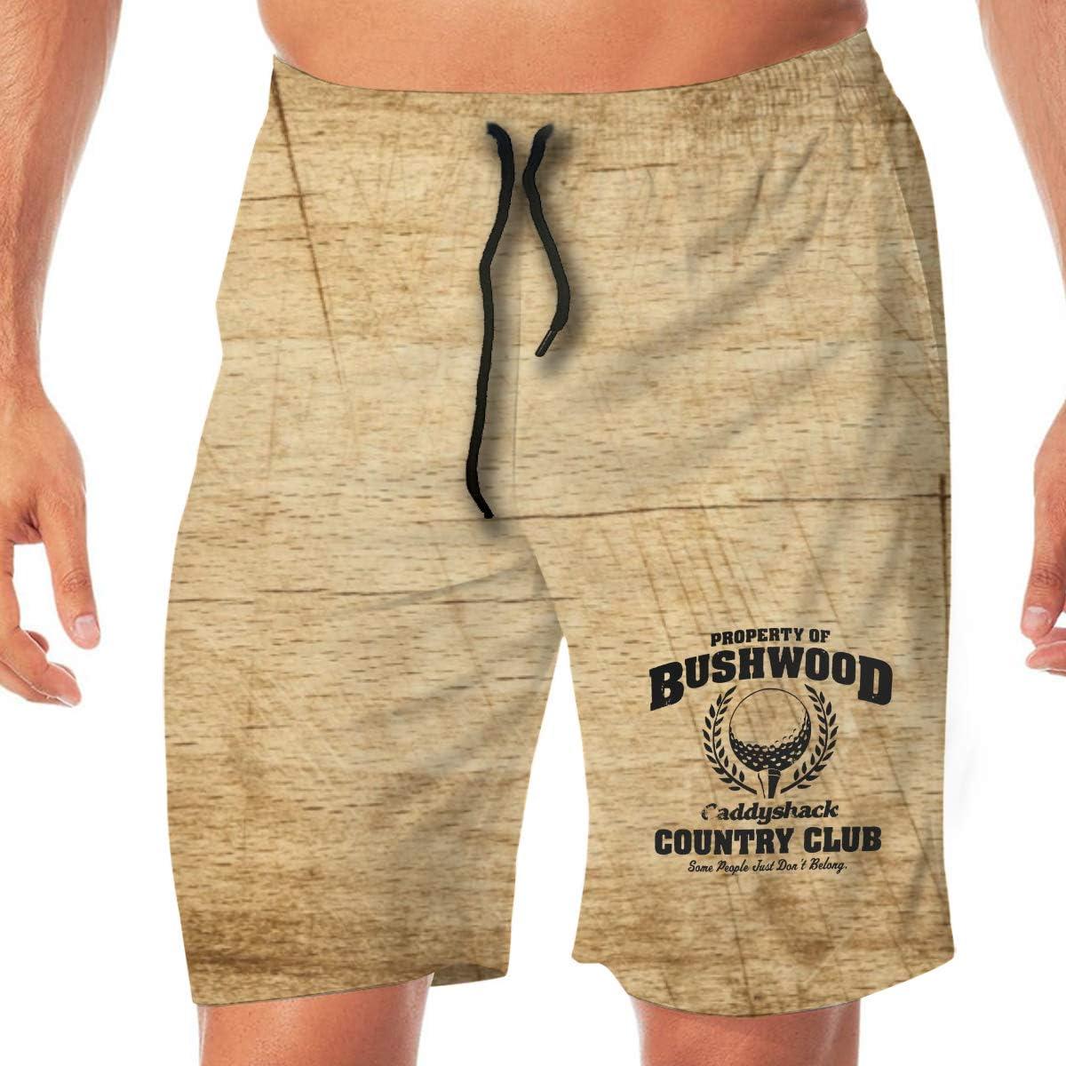Bushwood Country Club Mens Classic Swim Beach Shorts with Pockets