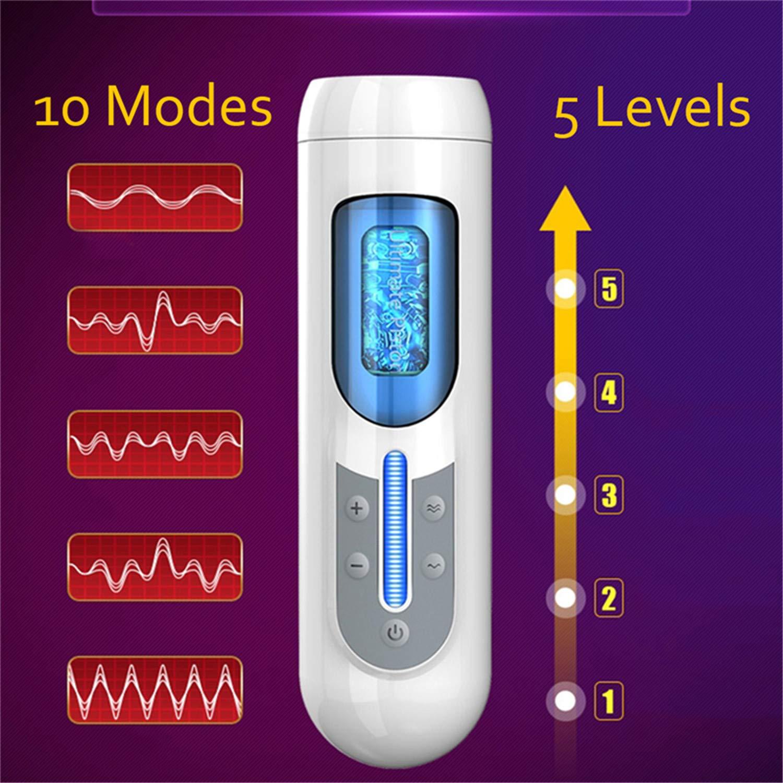 Strong G spot Vibrator Stimulation-Masturbator for Men Hand Free Automatic Aircraft Cup Vib-rator Real Vagina Male Masturbate Silicone Pockets Pussy