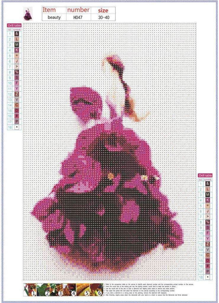 WOBANG DIY 5D Diamant Malerei Kits Cristal Strass Bordados Kreuzstich Arts Craft Diamond Painting imágenes Arte artesanía niñas Ballett Baile Vestido para Home Wall: Amazon.es: Juguetes y juegos