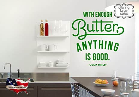 Amazon.com: better with Butter wall decal, kitchen wall decal ...