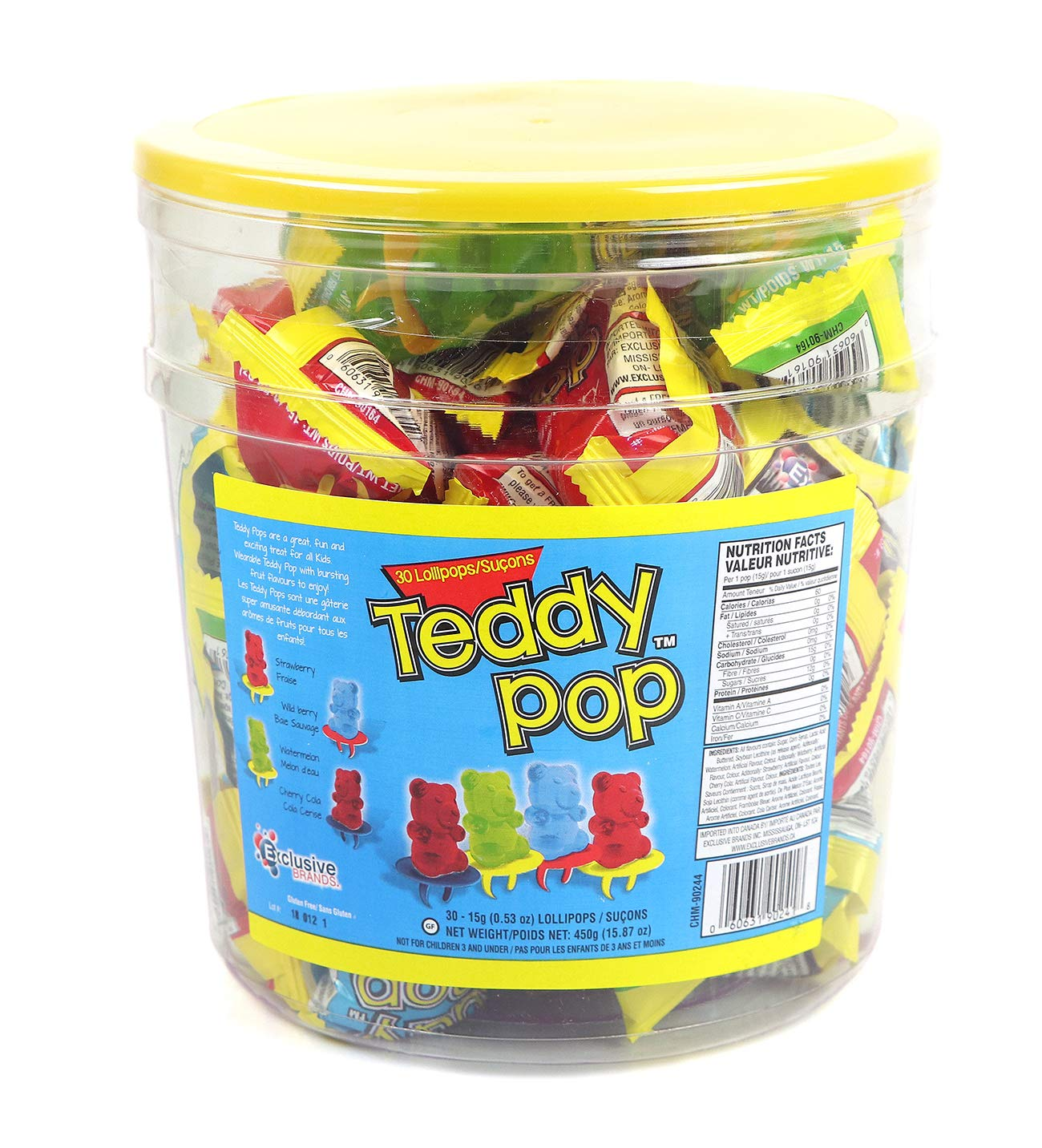CDM product Teddy Pop Candy Rings - 30 Count Variety Pack big image