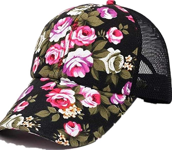 Amazon.com  BCDshop Women Floral Baseball Cap 70fc354a75d
