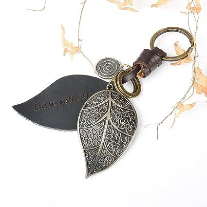 Llavero personalizado de piel de bronce para bolso, bolso y ...
