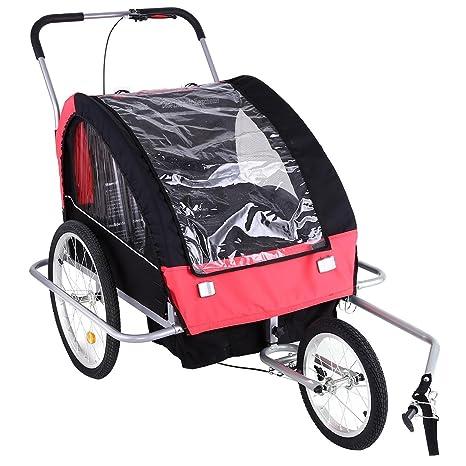 AIMADO Remolque Bicicleta Niños Infantil Plegable, 2 en 1, Carro ...