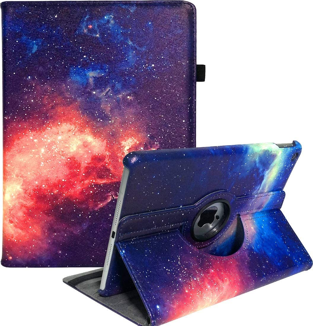 LayYun New iPad 10.2 Case Fit iPad 10.2 (2019) 7th Generation - 360 Degree Rotating iPad 7th Generation Case Cover with Auto Wake/Sleep Compatible with Apple iPad 10.2 Inch 2019 (Galaxy)