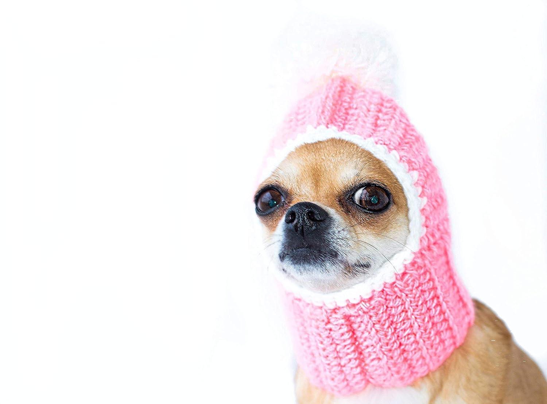 Amazoncom Pink Dog Hat Cozy Crochet Dog Hat Warm Winter Dog Hat