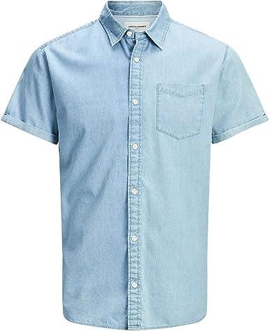 Camisa JACK&JONES Hombre Azul Claro 12171333 JCOKEN SHOIRT SS ...