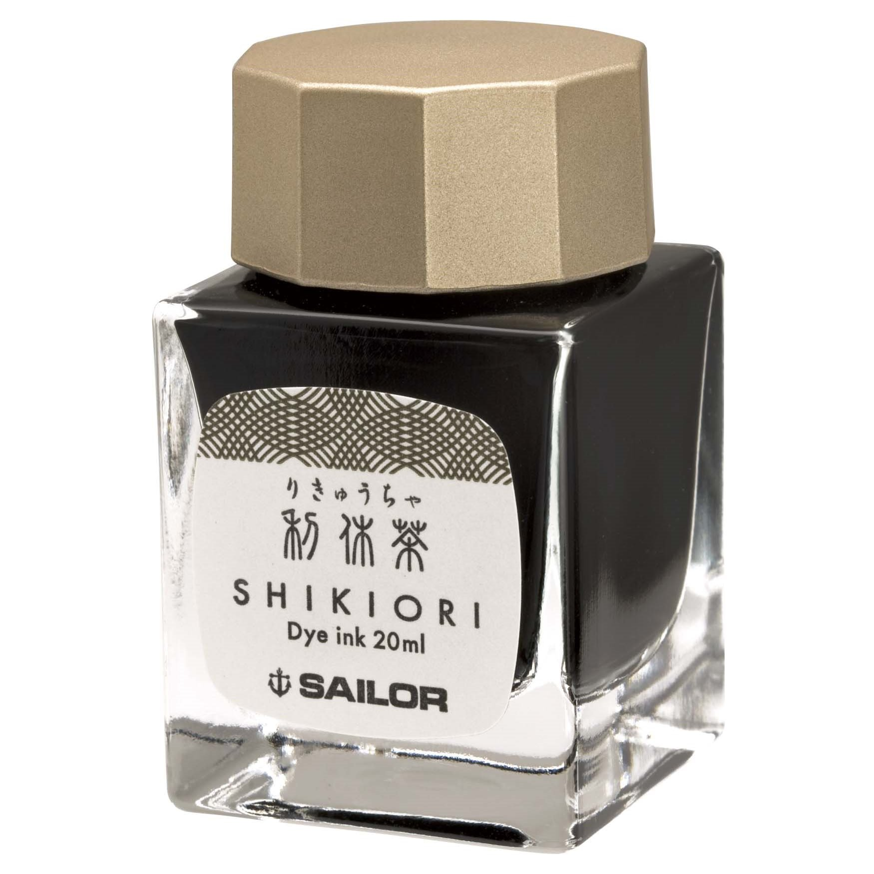 Sailor Shikiori Four Seasons Bottled Ink 20ml - Rikyu-Cha (Tea Green Brown)