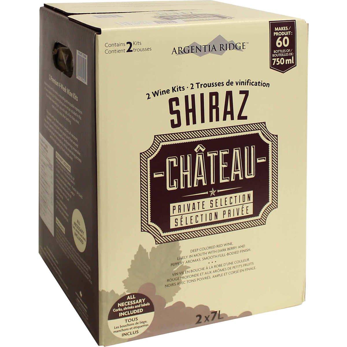 Argentia Ridge Château Private Selection Wine Kit (Shiraz)