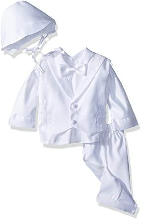 6b773adb9 Amazon.com: Infant Baby Boys Christening Baptism Outfit Cross Collar ...