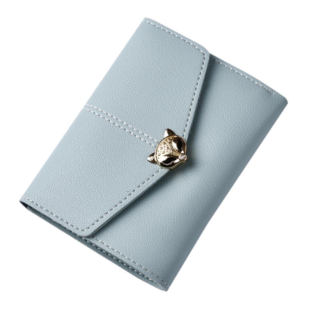 Cartera de mujer, RETUROM 2018 Bolso del monedero de la posición de la tarjeta multi del zorro del cerrojo de la moda de las mujeres (Azul): Amazon.es: ...