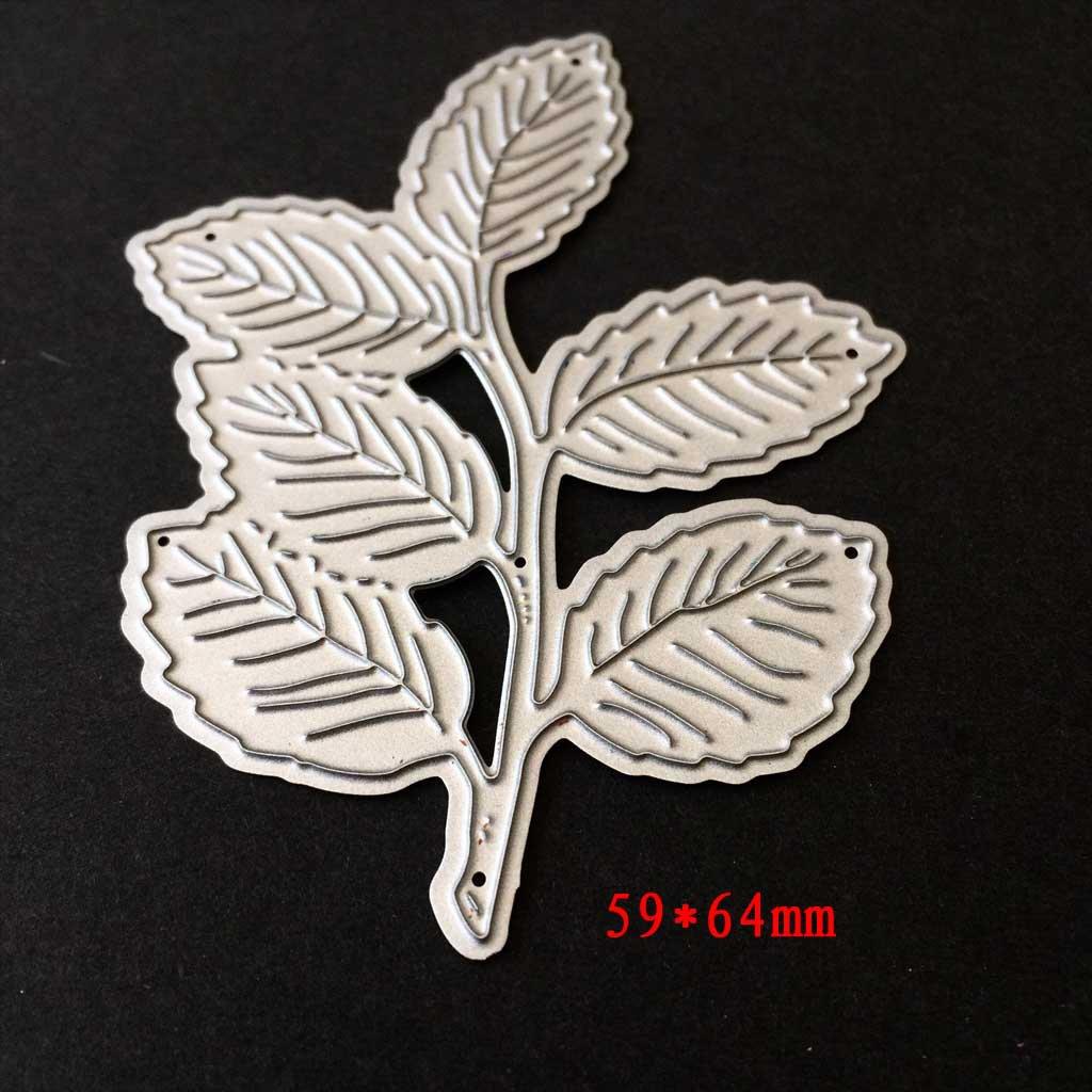 tarjetas de papel /álbum de recortes /álbum de recortes Plantilla de corte de hojas para manualidades Kuangkk manualidades