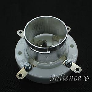 2PCS 4PIN Silver Plated Ceramic Vacuum Tube Socket for 300B 2A3 811 211 845 805