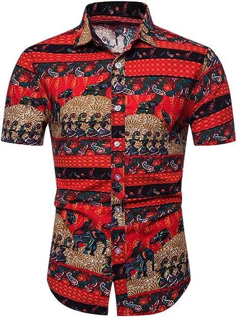 MOTOCO Camisa de Manga Corta para Hombre Talla Grande Camisa ...