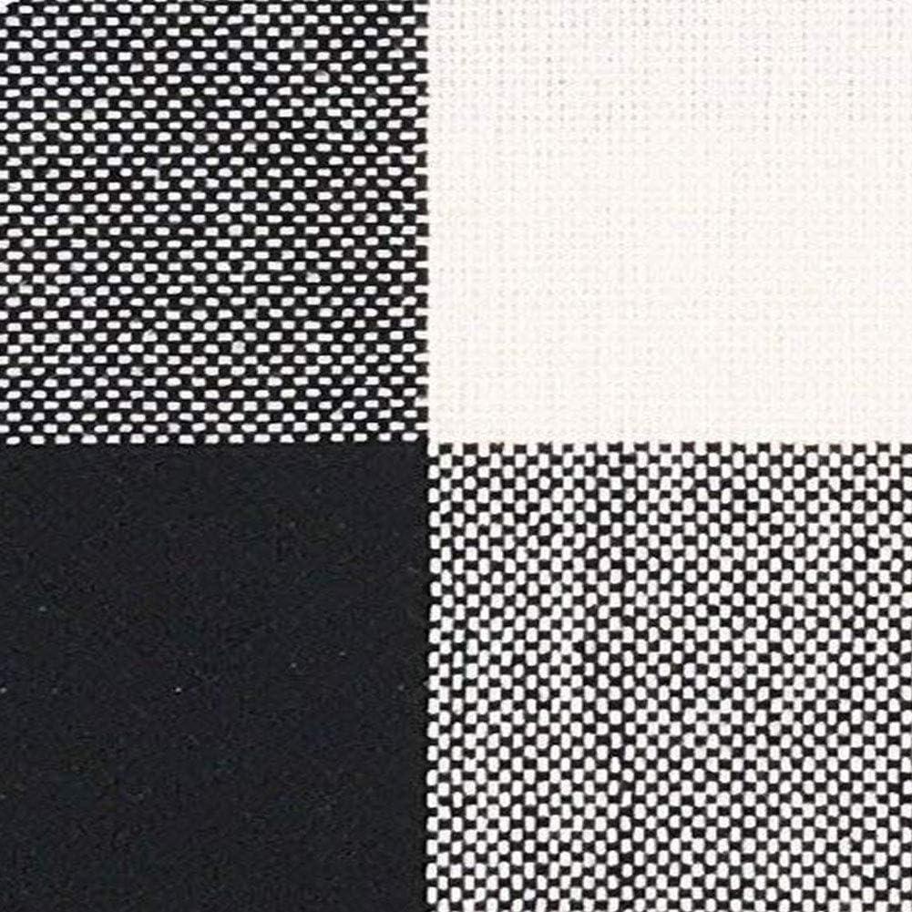 Xelparuc Farmhouse D/écor Noir et Blanc Buffalo Checkers /écossais en Lin Couvre-lit Taie doreiller Home Housse de Coussin d/écoratif pour canap/é 45,7/x 45,7/cm Lot de 2