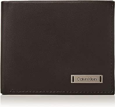 Calvin Klein - Smooth W Plaque Slimfold 6cc, Tarjeteros Hombre, Negro (Black), 0.1x0.1x0.1 cm (B x H T)