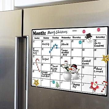 Amazon.com: Fridge Calendar Magnetic Dry Erase Calendar Whiteboard