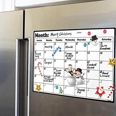 Volcanics FridgeCalendarMagnetic Dry Erase Calendar Whiteboard 2019-20 Calendar for Kitchen Refrigerator Smart Planners 16.9  x 11.8