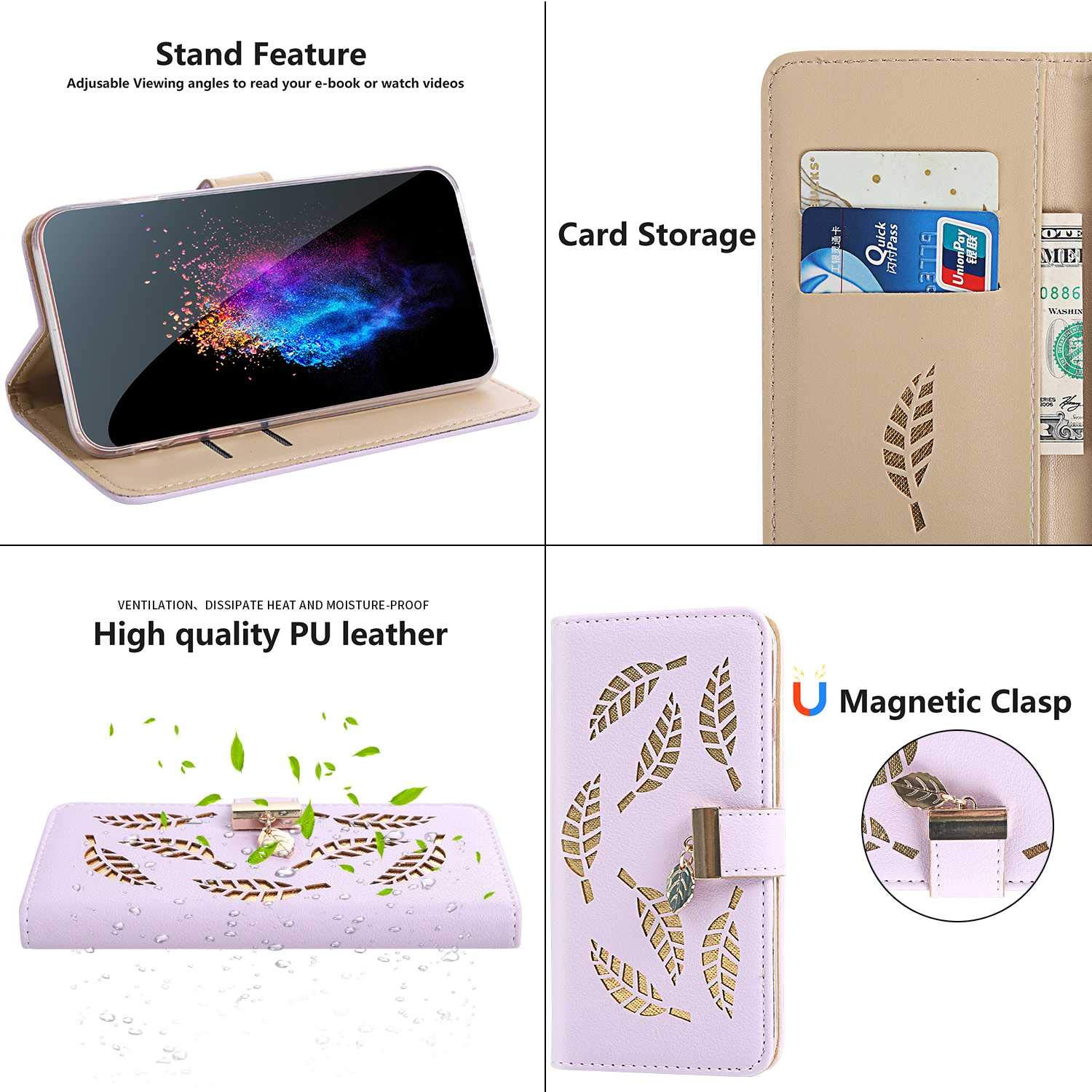 Black CUSKING Magnetic Wallet iPhone 11 Pro Max Case PU Leather Cover for Apple iPhone 11 Pro Max with Card Slot Book Style Full Body Protective Case