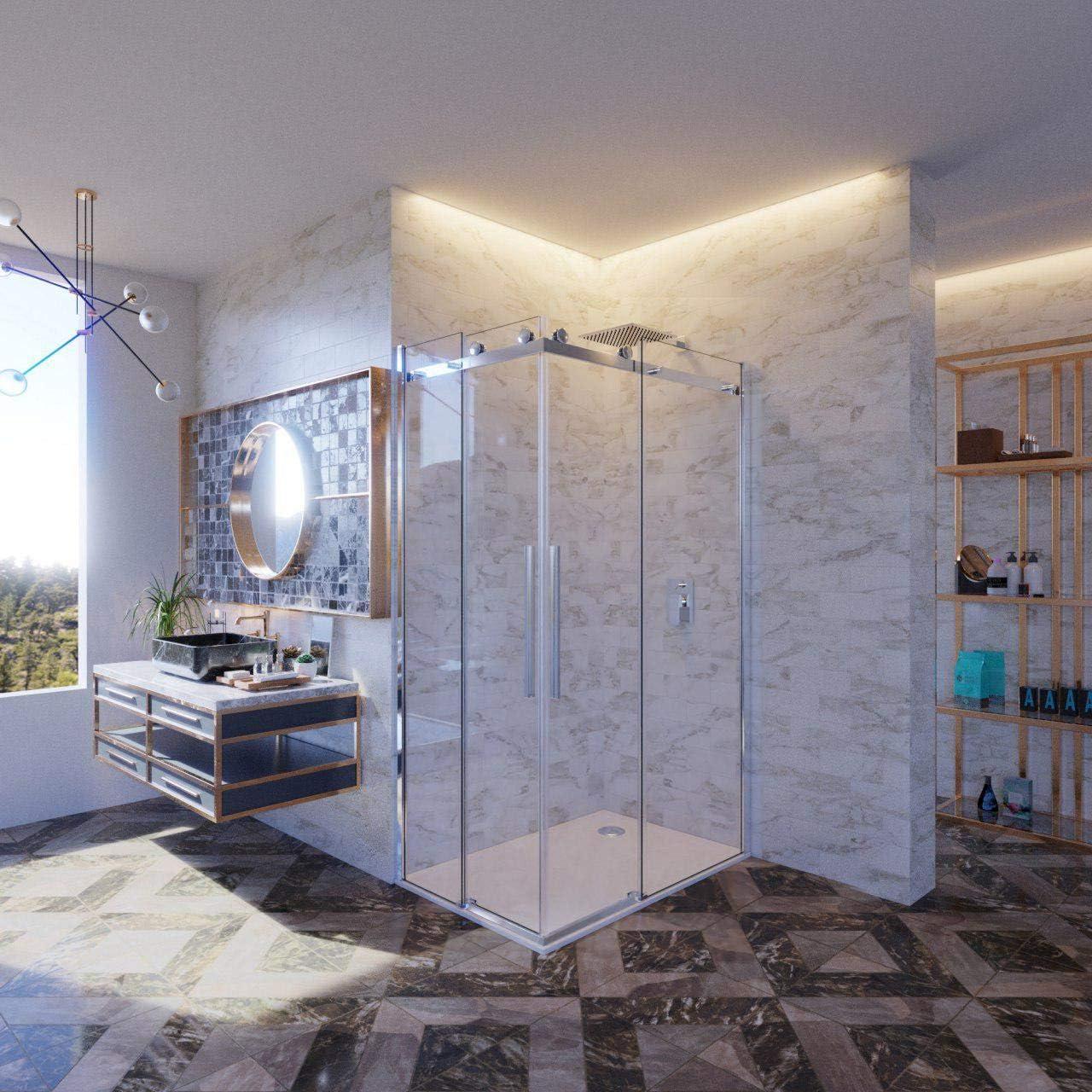 Melissa mampara de ducha Cristal 100 X 110 110 X 100 8 mm. h.195 cm: Amazon.es: Bricolaje y herramientas