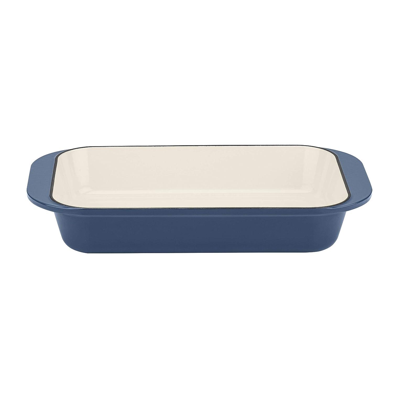 "Cuisinart CI1136-24BG Cast Iron Roasting/Lasagna Pan 14"", Enameled Provencial Blue"