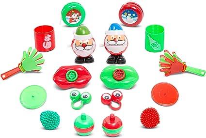 12 Kids Christmas Xmas Yo Yo/'s Toys Spin Yo yo With 3D STICKERS Party Bag Filler