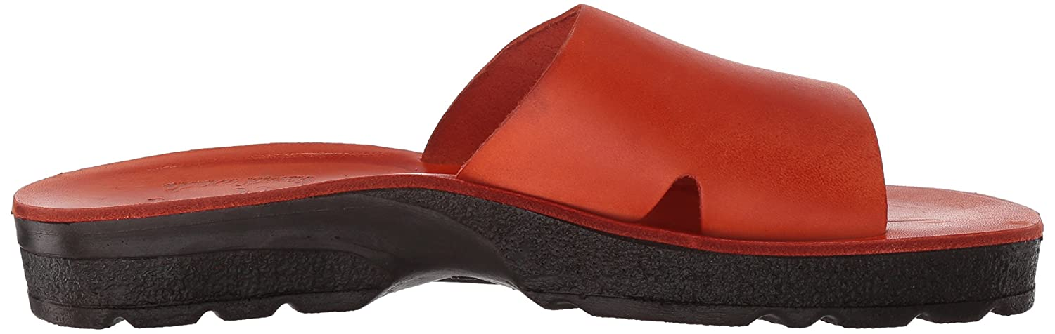 Jerusalem Sandals Women's Bashan Molded Footbed Medium Slide Sandal B075KYYQY8 38 Medium Footbed EU (7-7.5 US)|Orange c04269