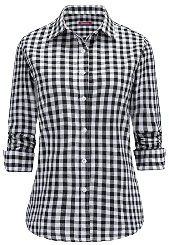 Dioufond Camisas Cuadros Mujer Manga Larga Blusas Casual Para Mujer