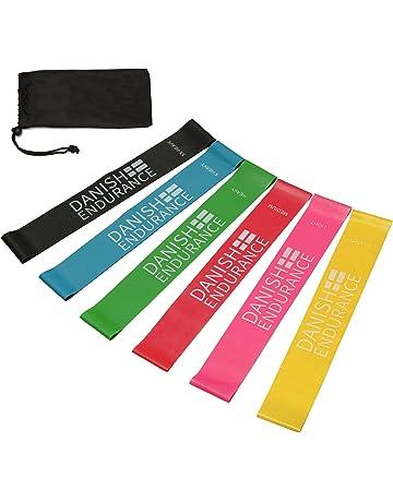 Bandas Elásticas de Resistencia, juego de 6 o 3, incluyendo bolsa, bandas de