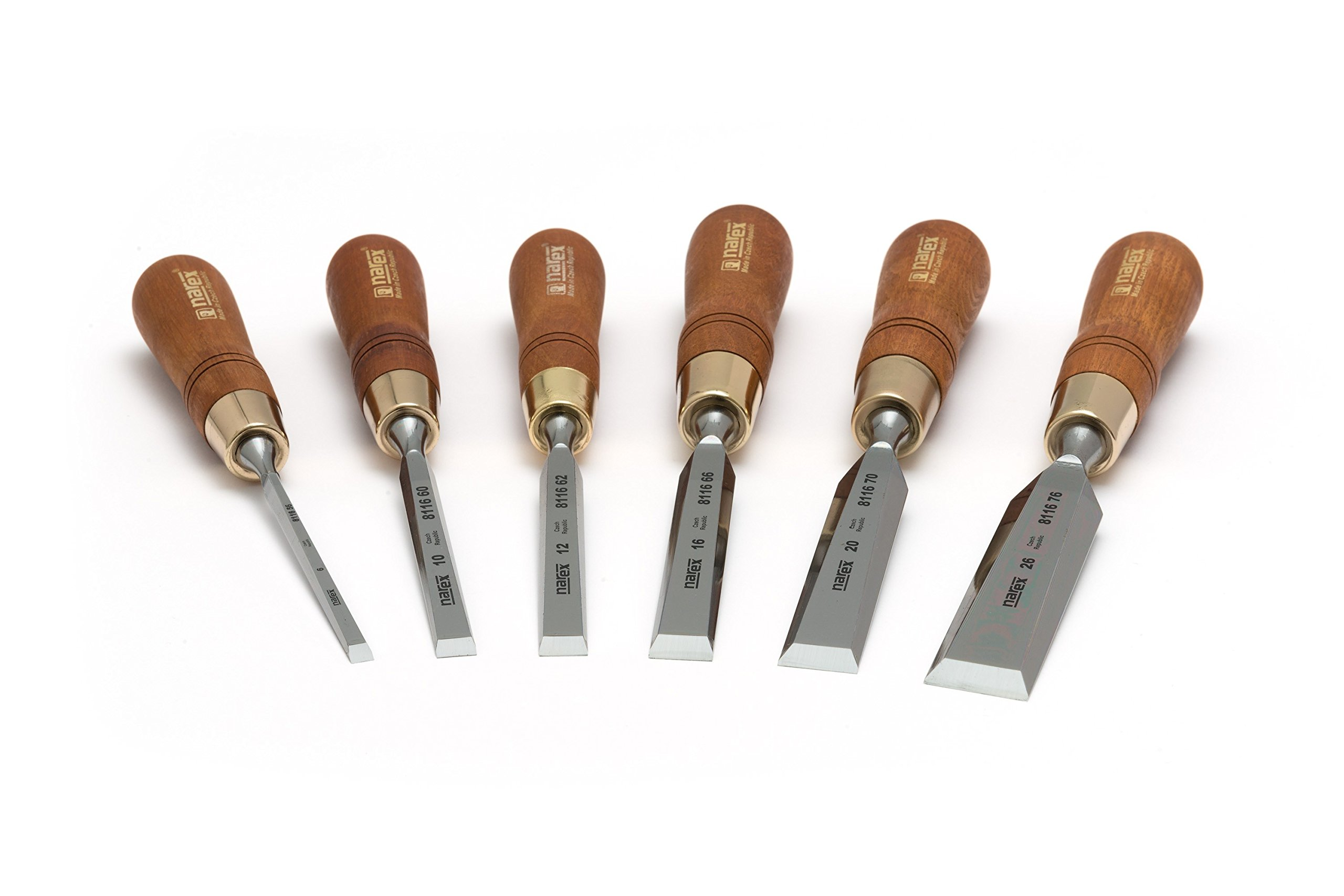 Set of Bevel Edge Chisels Premium - 6 Pieces
