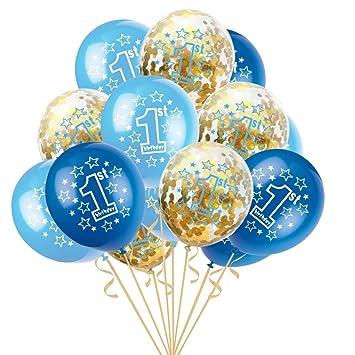 Amazon.com: 15 globos de confeti de látex de 11.8 in para ...