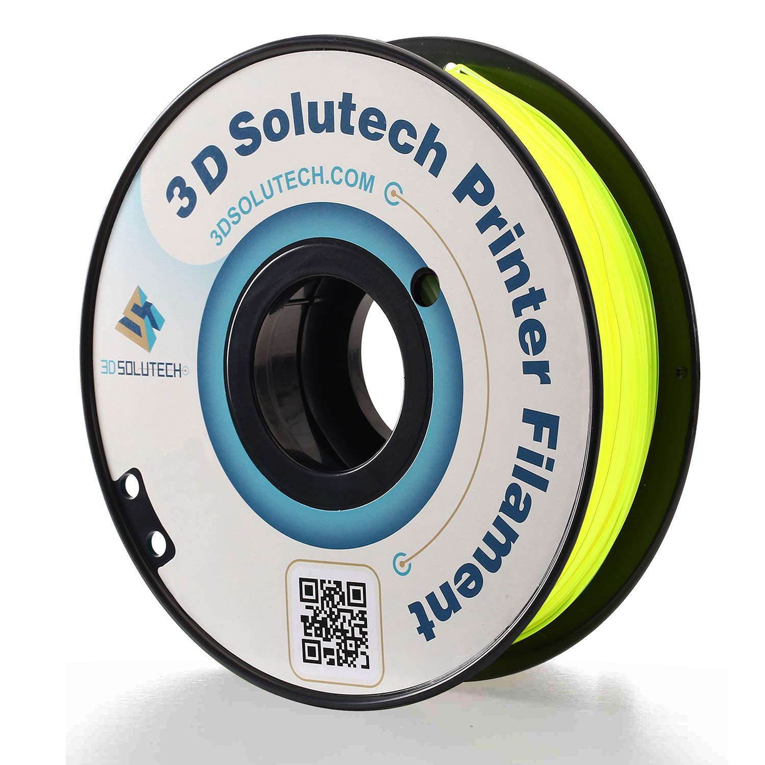 3D Solutech See Through Yellow 3D Printer PLA Filament 1.75MM Filament, Dimensional Accuracy +/- 0.03 mm, 2.2 LBS (1.0KG) - 3DSPLA175STYLW
