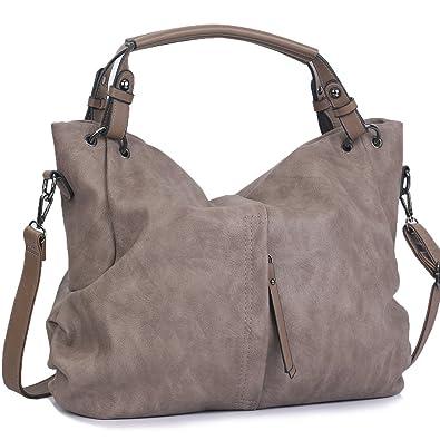 720af852b5f31b WISHESGEM Handtaschen Damen Taschen Hobo Umhängetaschen Schultertaschen  Handtaschen PU-Leder Henkeltaschen Modernes 36cm(L