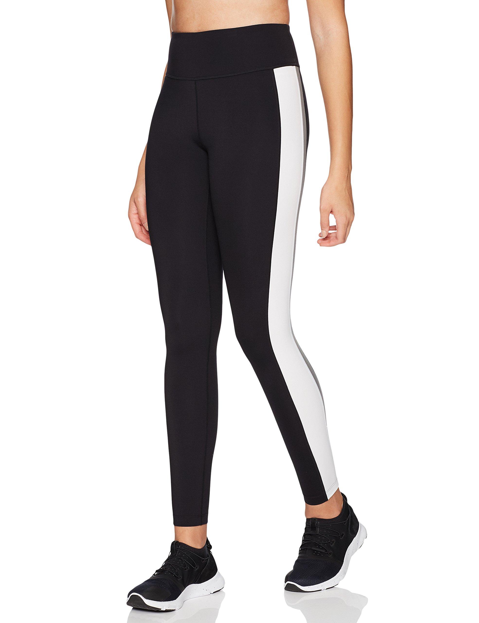 Core 10 Women's Icon Series - The Track Star Legging, Black/Grey/White, Small