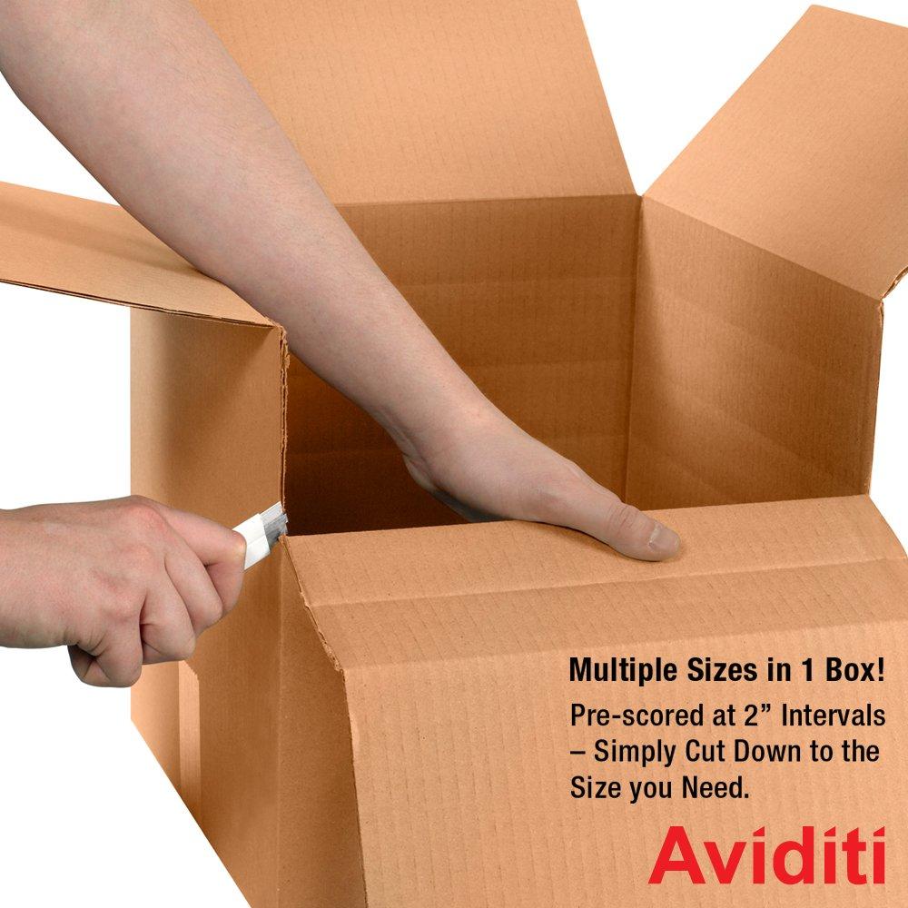 Kraft Bundle of 25 24 Length x 12 Width x 12 Height Aviditi MD241212 Single-Wall Multi Depth Corrugated Box