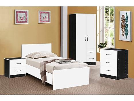 Camera Da Letto Bianco Lucido : Marina ultra camera da letto ad alta lucentezza pezzi bianco