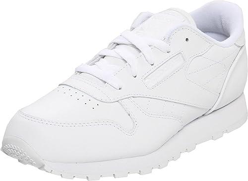 Reebok - Zapatillas de Deporte de Cuero para niño Blanco Blanco: Amazon.es: Zapatos y complementos
