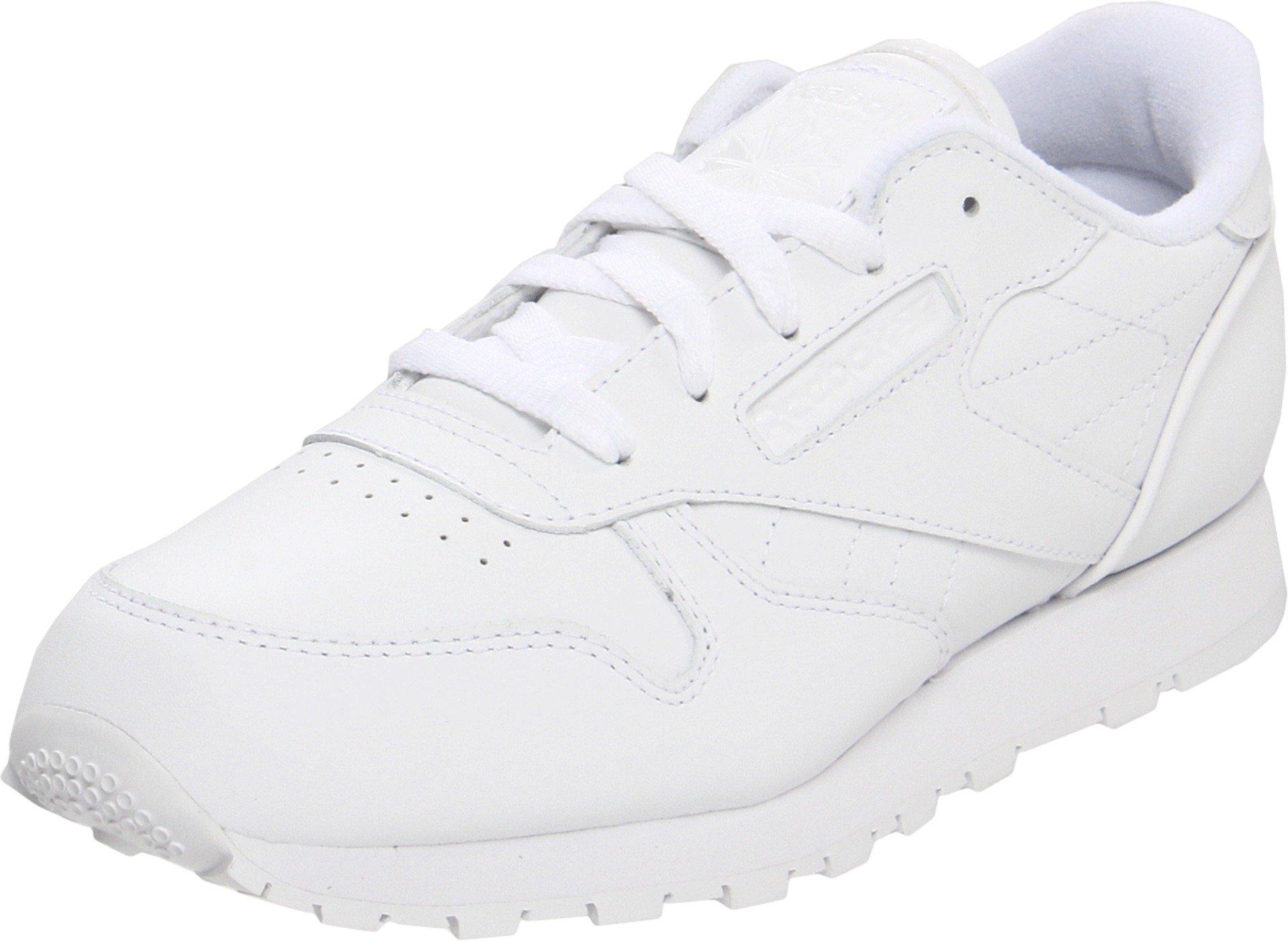 Reebok Classic Leather Shoe,White/White/White,6 M US Big Kid