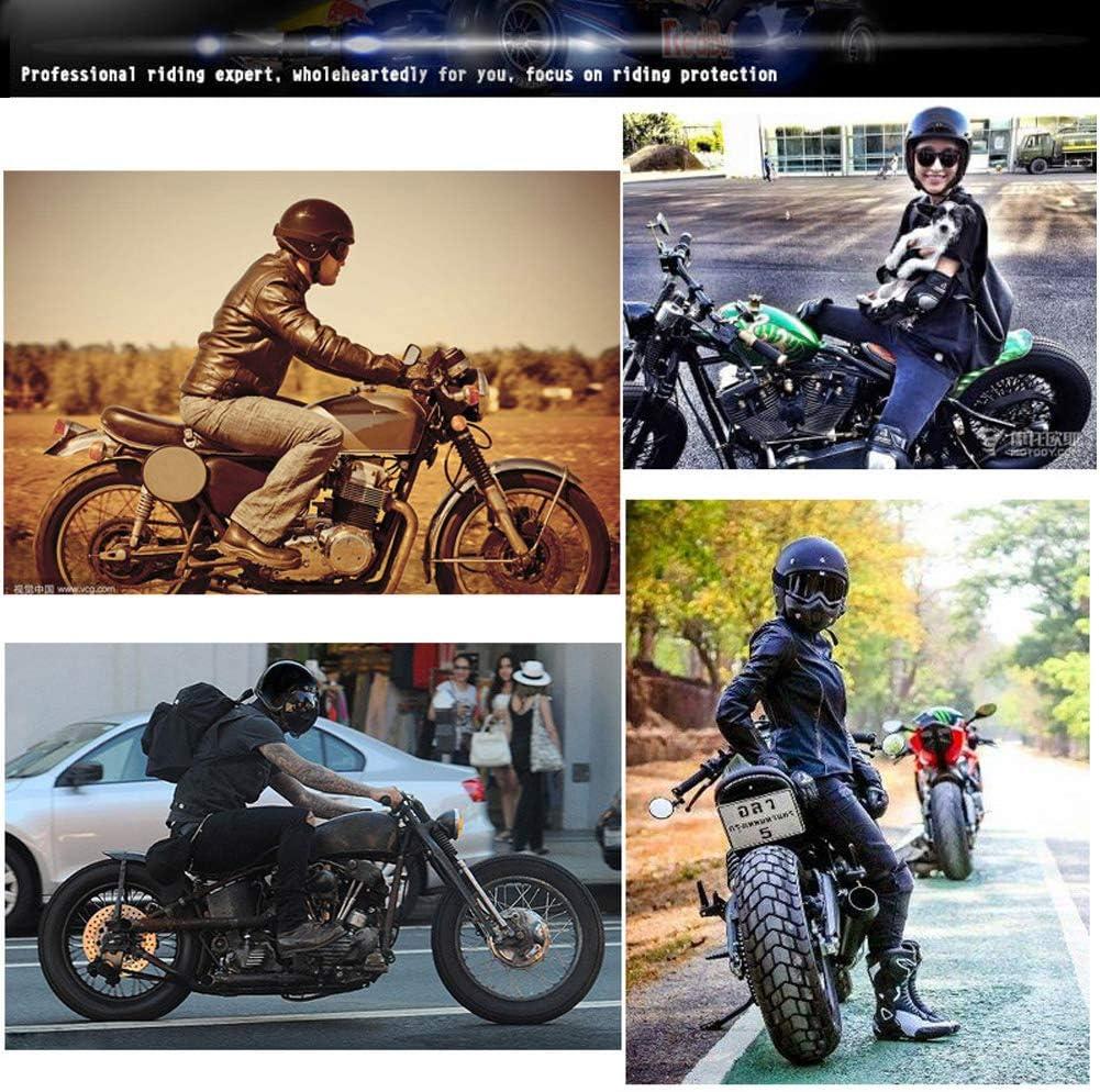 Klassisches Braun,M Erwachsene Jethelm Vintage Handgefertigte Leder Scooter-Helm Roller Motocrosshelm f/ür M/änner Damen Jet-Helm Herren Retro Cruiser Biker Motorrad-Helm mit Schutz-Brille