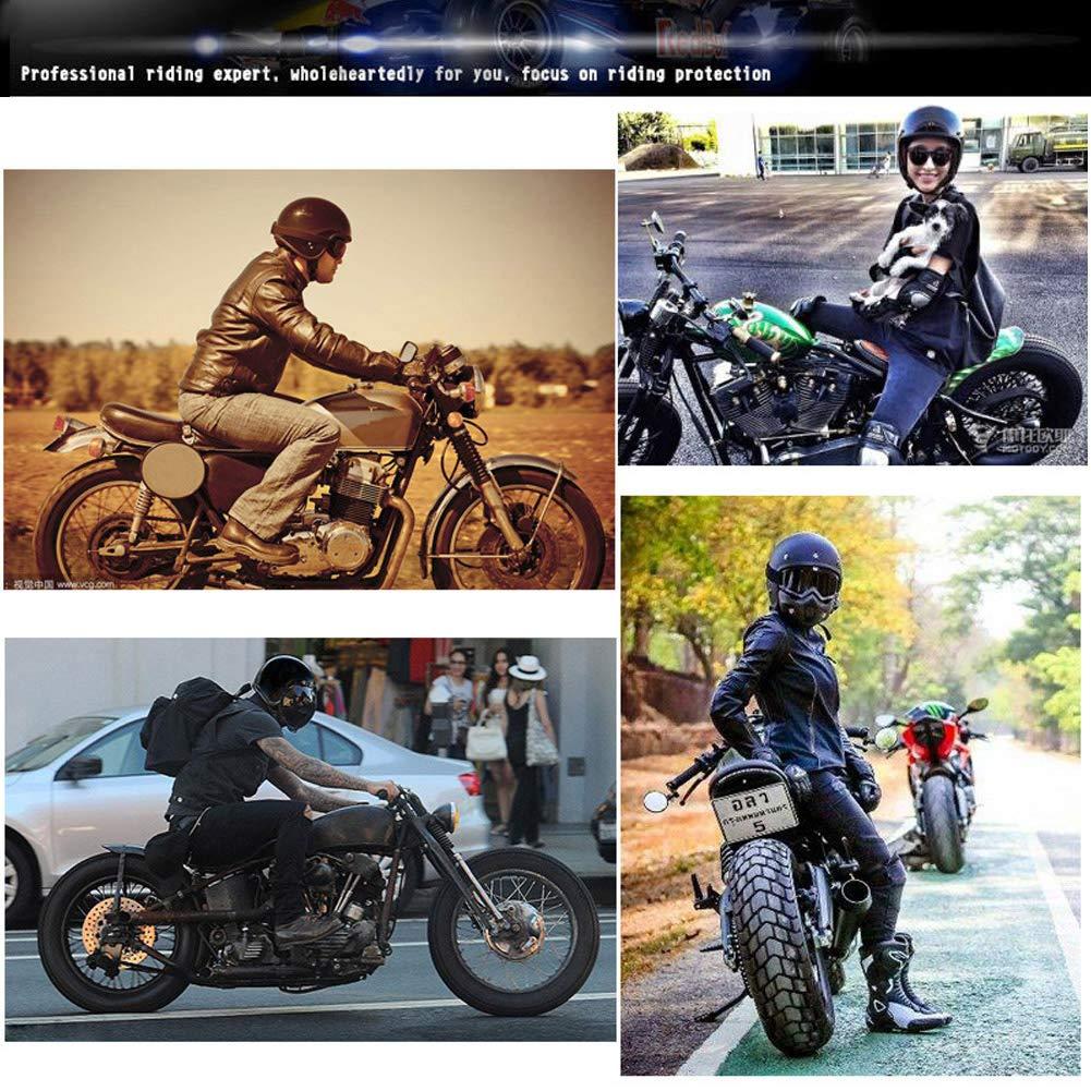 Vintage Cuir /à la Main Casque /à Visage Ouvert pour Hommes Femmes Classique Brown LEENP R/étro Demi-Casque de Moto avec Lunettes Adulte Jet Casques pour Moto//Motards//Croiseur//Scooter